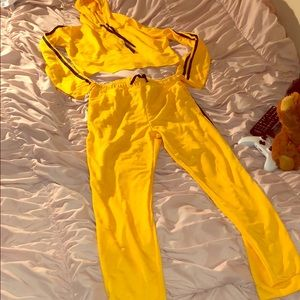 Other - Matching black and yellow track suit!